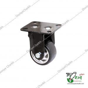 چرخ 7.5 ثابت پایه مشکی چرخ مشکی