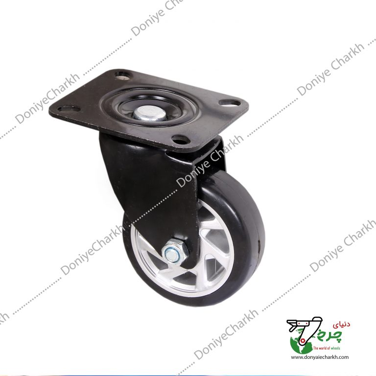 چرخ 7.5 گردان پایه مشکی چرخ مشکی